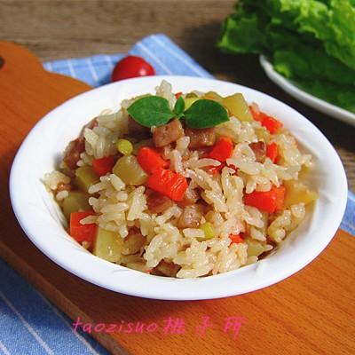 北京腊肠时蔬饭