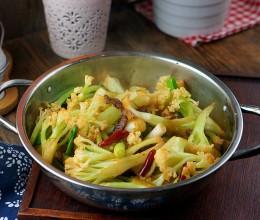 酱油肉炒花菜