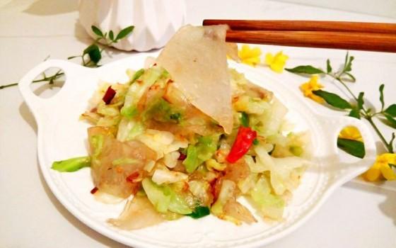圆白菜炒粉皮