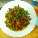青豆炒肉丝