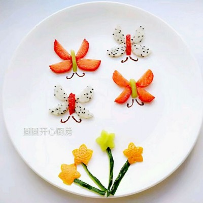 水果拼盤——蝴蝶