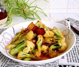 腊肉炒花菜