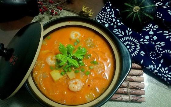 韩式海鲜酸酱汤