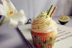 青柠海绵纸杯蛋糕(色拉油版)