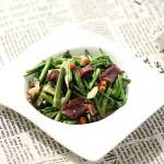 腊肉炒水芹菜