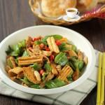 青椒腐竹炒肉片