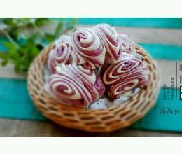 紫薯双色花卷