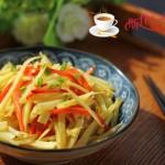 红椒炒薯丝