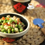 毛豆茭白炒肉丁
