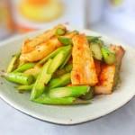 芦笋炒虾饼