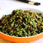 榄菜肉末豇豆角