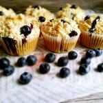 蓝莓酥粒马芬蛋糕