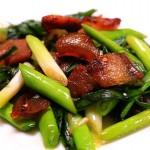 青蒜炒腊肉-迷迭香