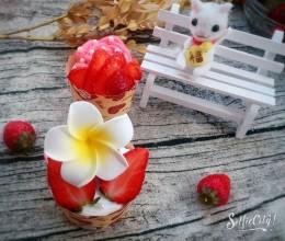 草莓奶油杯子蛋糕#博世红钻家厨#