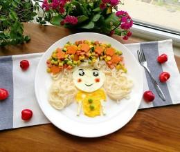 花仙子早餐面#高颜值儿童便当#