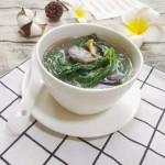 皮蛋苋菜汤