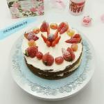 fluff棉花糖之巧克力草莓裸蛋糕
