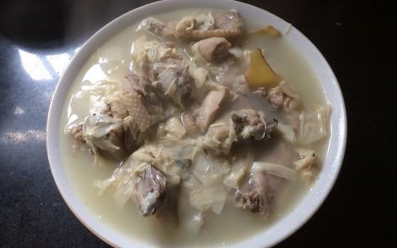 豆油皮鸡汤