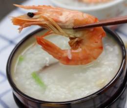 对虾海鲜粥