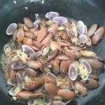 紫苏炒花甲螺
