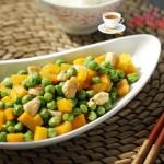 豌豆南瓜炒鸡丁