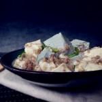 双色豆腐煮肉蓉