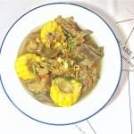 夏日养身汤——虫草花干贝茨实排骨玉米汤