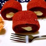 红丝绒奶油毛巾蛋糕卷