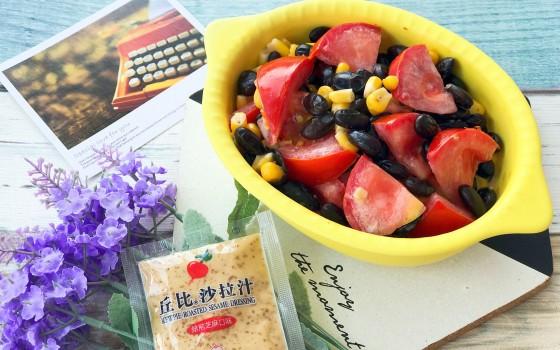 玉米黑豆沙拉#丘比沙拉汁#