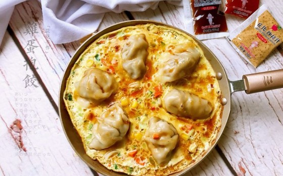丘比日式沙拉汁版鸡蛋抱饺#丘比沙拉汁#
