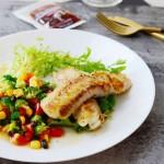 黑椒煎鳕鱼配日式沙拉#丘比沙拉汁#