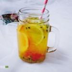 西柚百香果柠檬茶