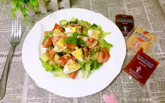 缤纷蔬菜沙拉#丘比沙拉汁#