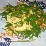 鸡蛋炒韭菜花