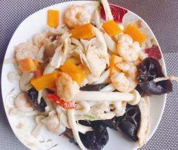 虾仁海鲜菇