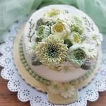初秋 淡奶油奶油霜裱花蛋糕#相约MOF#