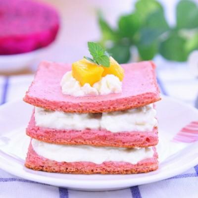 火龙果蛋糕 #快乐宝宝餐#