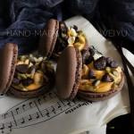 巧克力坚果马卡龙