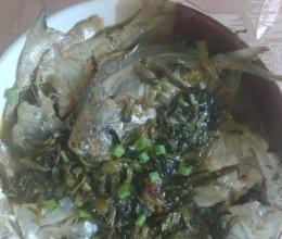 鲳鱼烧咸菜