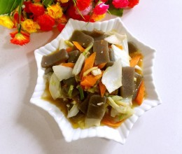 白菜梗炒魔芋