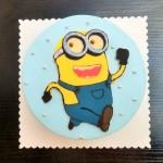 小黄人巧克力转印蛋糕#相约MOF#
