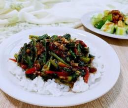 豆蒜辣 炒油麦菜