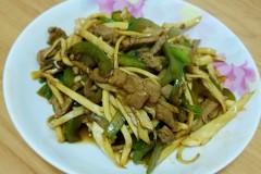 茭白青椒炒肉