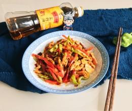 香辣双椒肉丝#金龙鱼外婆乡小榨菜籽油 最强家乡菜#