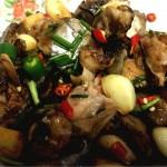 砂锅三文鱼煲