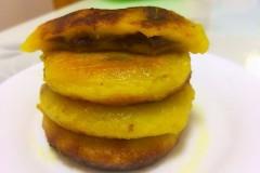 红薯豆沙糯米饼