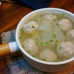 冬瓜肉丸汤里;