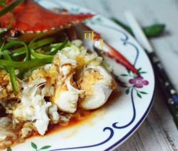 葱油梭子蟹蒸粉丝