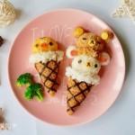 """轻松熊""""冰淇淋""""便当#厨此之外,锦享美味#"""