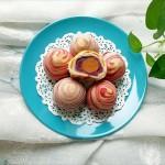 """紫薯馅彩色蛋黄酥#享""""美""""味#"""